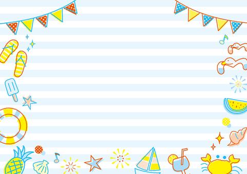 夏季圖案框架_邊框