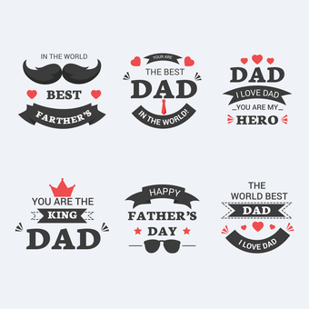 Fathers day logo label