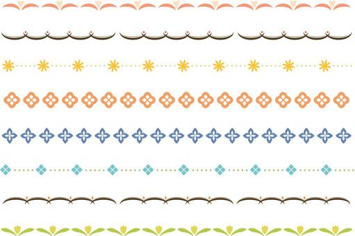 Simple decorative border 4 colors