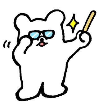 Wearing white glasses 2 (Kirari)