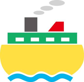 Ship, fely,, silhouette