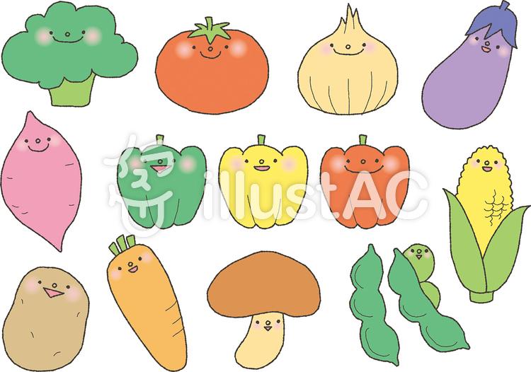 野菜キャライラスト No 1152177無料イラストならイラストac