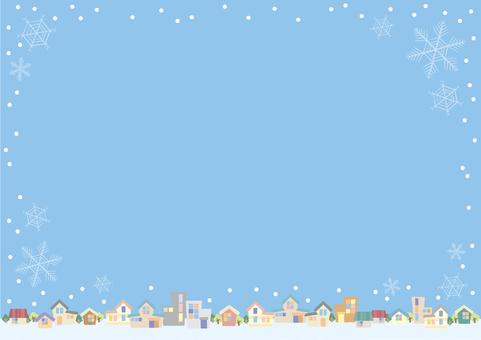 下雪的小鎮