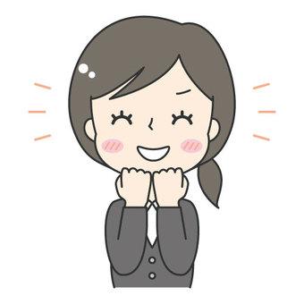 Cute female company worker / suit / OL