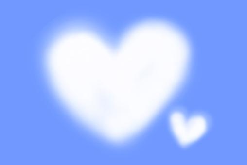 Heart cloud floating in blue sky