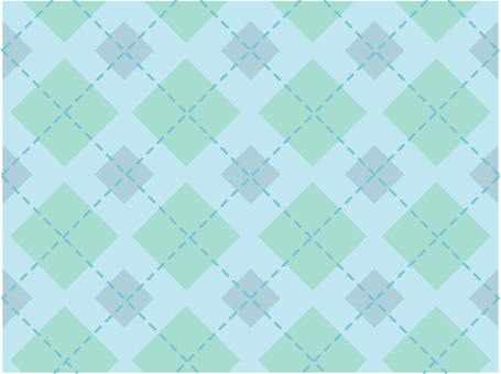 Dotted line check - light blue