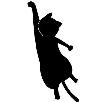Black cat silhouette hanging