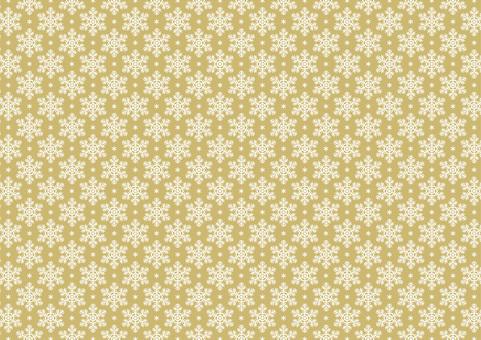 Snowflake Background B Horizontal Gold 1