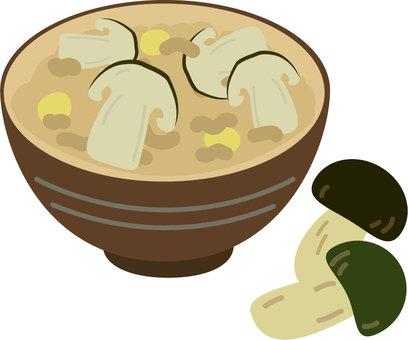 Matsutake mushroom rice and matsutake