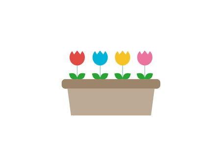 Illustration of tulips