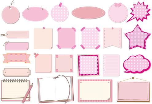 Title frame set Pink
