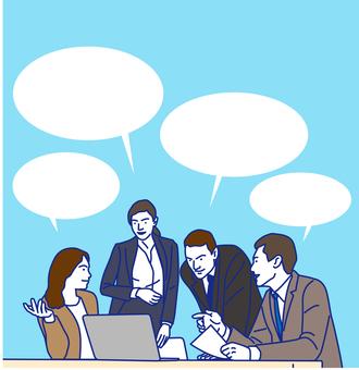 會議講話泡泡