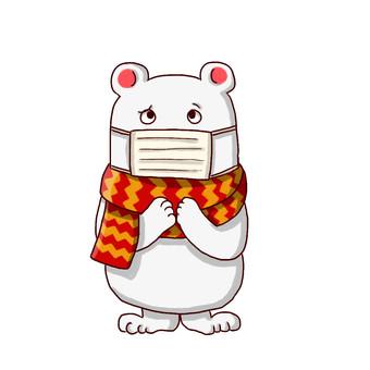 Polar bear in winter