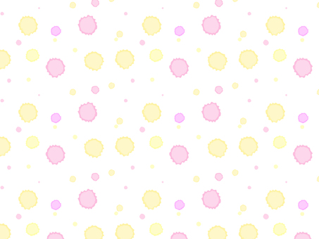 Dot background material pink and yellow