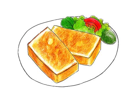 Butter toast set