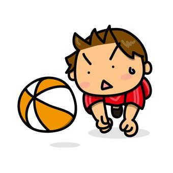 男孩打排球