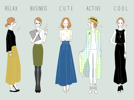 Adult female fashion coordinates