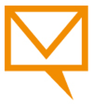 Mail icon blowing _ orange