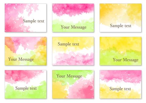 Watercolor card material 5 Spring color