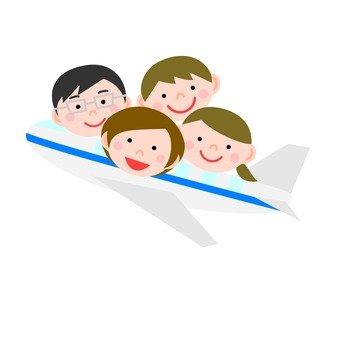 走出去與家人和飛機