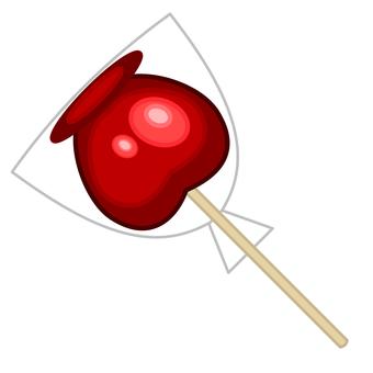 Illustration of apple casket