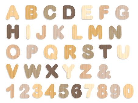 알파벳 나뭇결