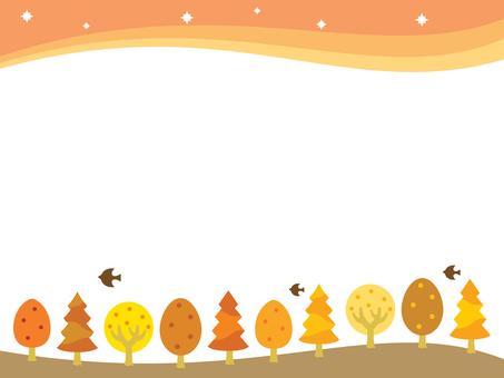 Illustration of fall landscape