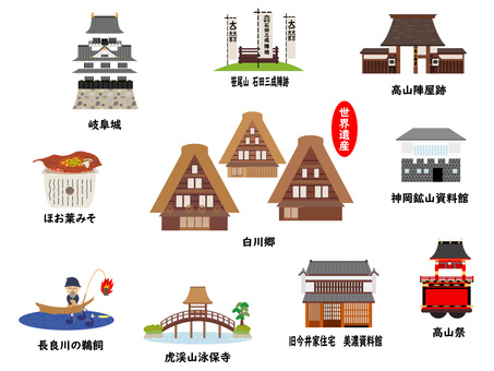 Sightseeing spots in Gifu