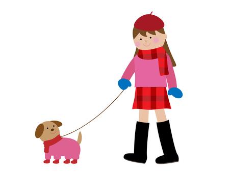 Winter illustration material