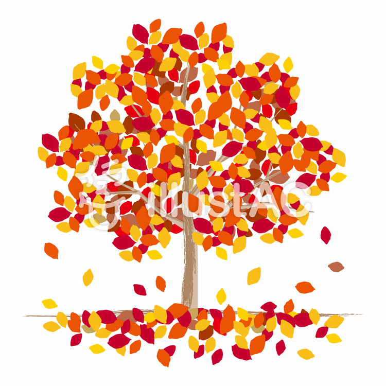 トップコレクション 秋 落ち葉 イラスト 最高の写真の壁紙の