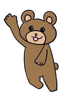Bear raising hands