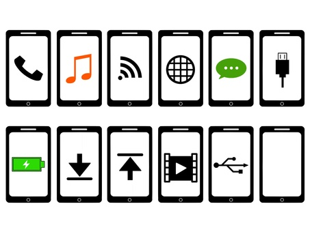 Smartphone smartphone icon set
