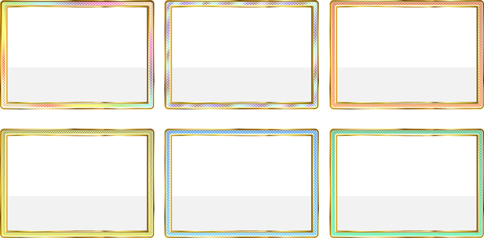 Colorful square frame 6 pattern