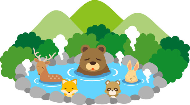 Animals and hot springs