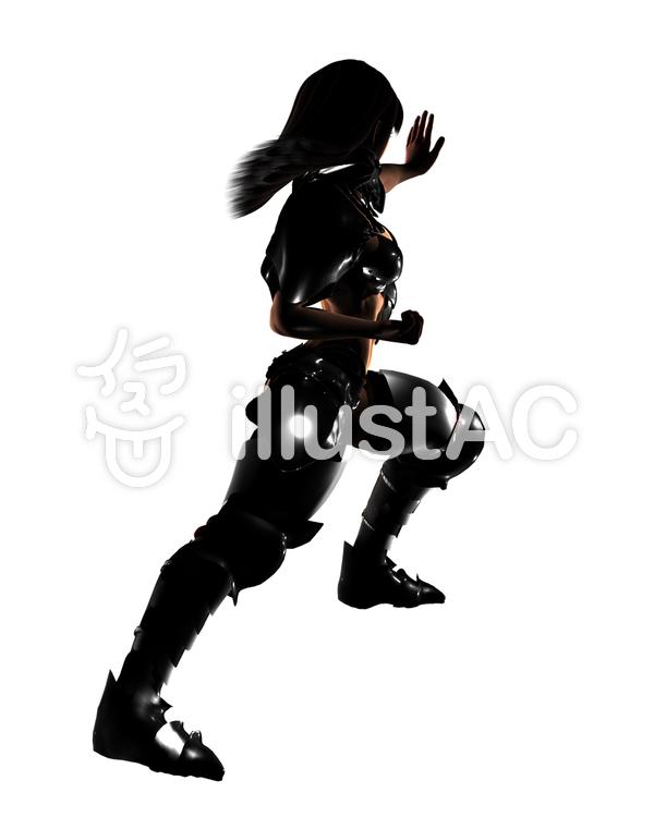 黒鎧 ひとみ ❻のイラスト