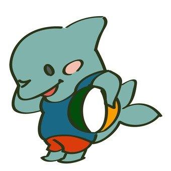 Dolphin and beach ball