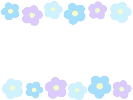 Blue series flower frame