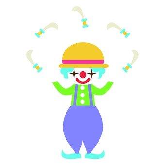 Juggling clown dagger
