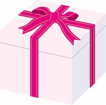 Gift box Ribbon Pink