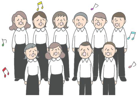 Mixed chorus group choir