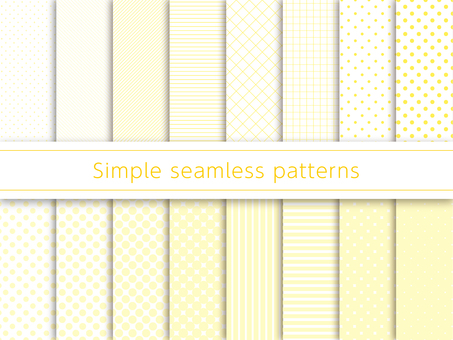 Simple pattern swatch yellow