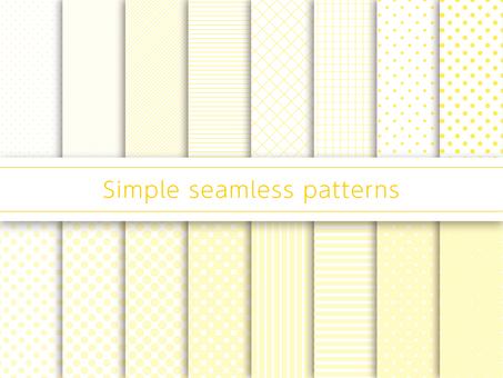 단순 패턴 견본 옐로우