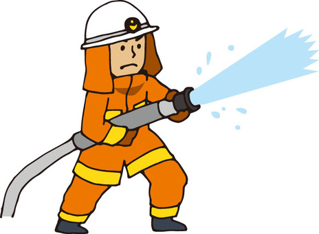 Firefighter (water discharge · orange)