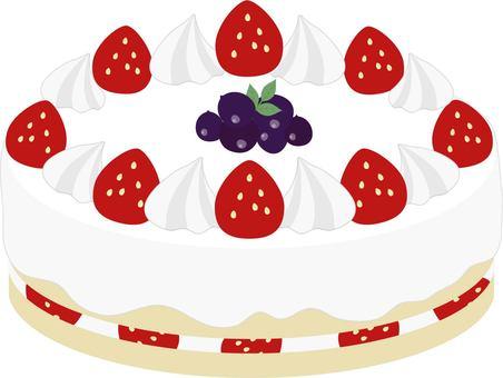 Strawberry whole cake