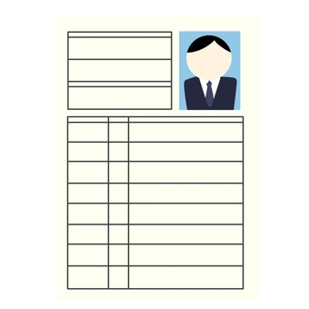Male resume