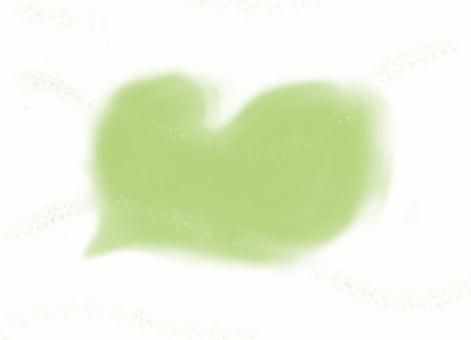Heart cloud yellow green