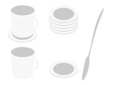 咖啡杯·勺·杯墊01