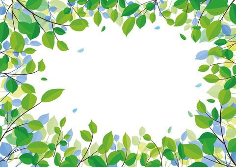 Tree leaves frame