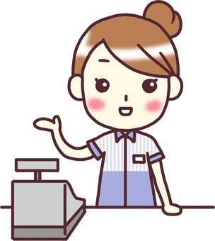 【Female convenience store】 Front view _ Information