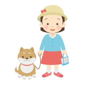 Walking a Shiba Inu